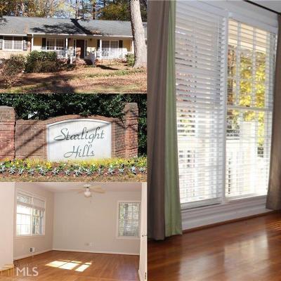 Sandy Springs Single Family Home For Sale: 640 Starlight Dr