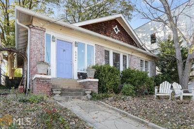 Old Fourth Ward Single Family Home For Sale: 644 Kennesaw Ave