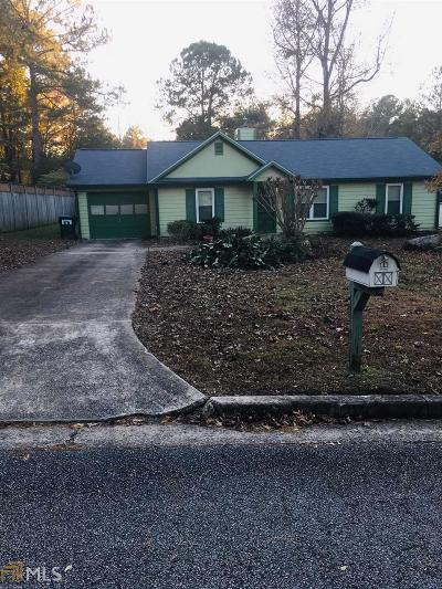 Fairburn Single Family Home Under Contract: 8255 Autumn Dr