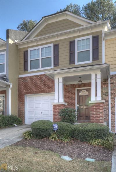Gwinnett County Condo/Townhouse New: 1754 Arbor Gate Dr
