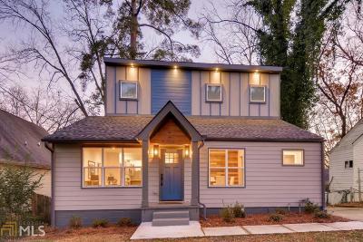 Atlanta Single Family Home New: 858 Erin Ave
