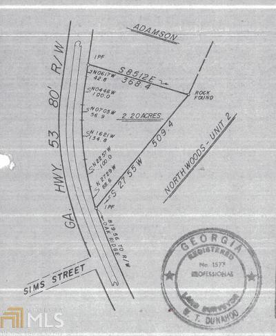 Winder Residential Lots & Land For Sale: Gainesville Hwy #2.2 acre
