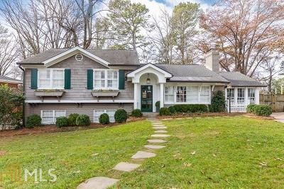 Atlanta Single Family Home For Sale: 1072 Northcliffe Dr