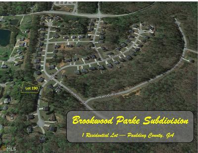 Paulding County Residential Lots & Land For Sale: 166 Stonemont Ct #190