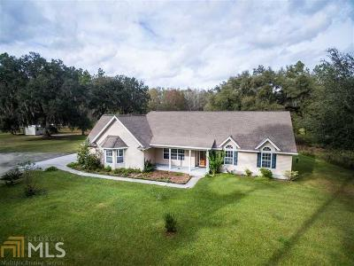 Woodbine Single Family Home Under Contract: 8971 Ga Hwy 110