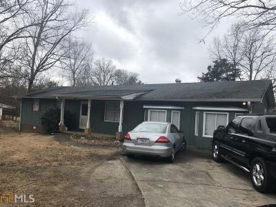 Douglasville Single Family Home New: 2871 Pope Rd