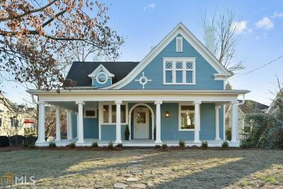 Historic Marietta Single Family Home For Sale: 142 Forest Ave