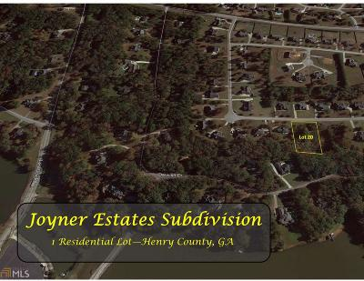 McDonough Residential Lots & Land For Sale: 4139 Alayna Lee Cir #20