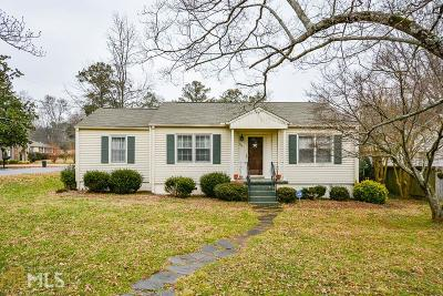 Historic Marietta Single Family Home Under Contract: 450 Cascade Dr