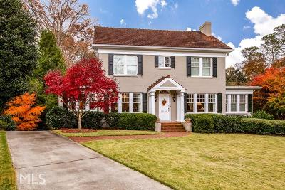 Druid Hills Single Family Home Under Contract: 1005 Oxford Rd