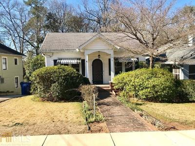 Ormewood Park Single Family Home Under Contract: 1015 Woodland Ave