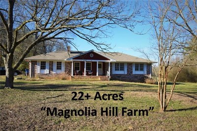 Woodstock Single Family Home For Sale: 327 Arnold Mill #22 Acres