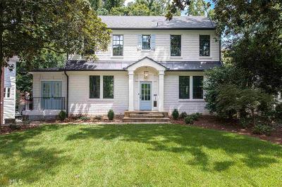 Atlanta Single Family Home New: 640 E Morningside Dr