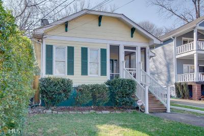 Atlanta Single Family Home New: 1027 Kirkwood Ave