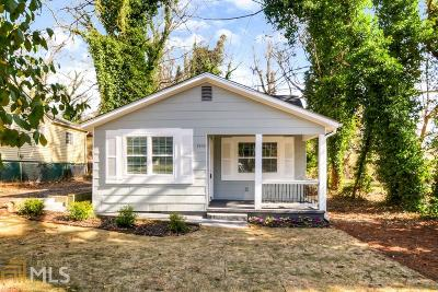Atlanta Single Family Home New: 1460 Moray Street SW