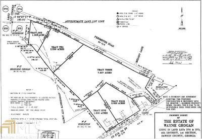 Dawsonville Residential Lots & Land For Sale: Perimeter