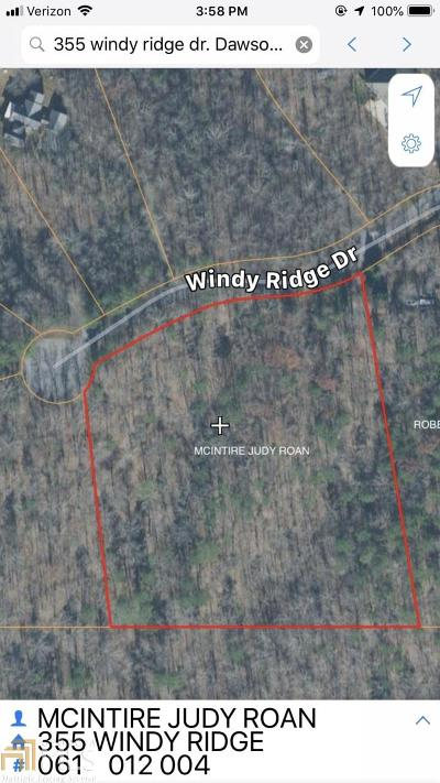 Dawsonville Residential Lots & Land For Sale: 355 Windy Ridge Dr