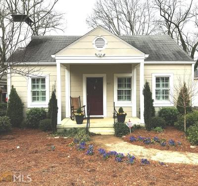 Decatur Single Family Home For Sale: 837 E Lake Dr
