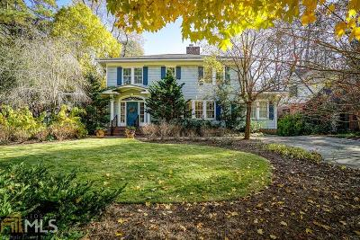 Druid Hills Single Family Home For Sale: 1727 Ridgewood Dr