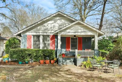 Inman Park Single Family Home For Sale: 884 Edgewood Ave