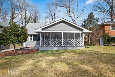 Decatur Single Family Home Under Contract: 2396 Greylock Pl