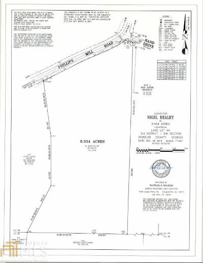 Douglasville Residential Lots & Land For Sale: Phillips Mill Rd
