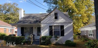 Decatur Single Family Home New: 726 S McDonough St