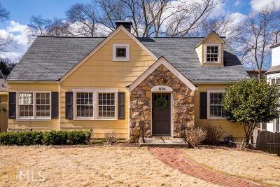 Virginia Highland Single Family Home Under Contract: 876 Barnett St