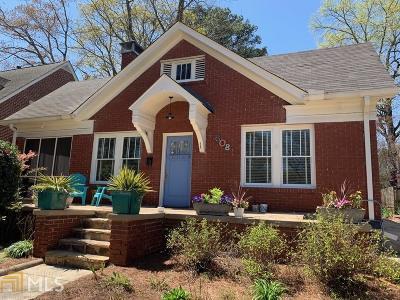 Atlanta Single Family Home For Sale: 608 Hardendorf Ave