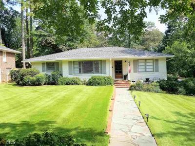 Decatur Single Family Home Under Contract: 1495 Knollwood Ter