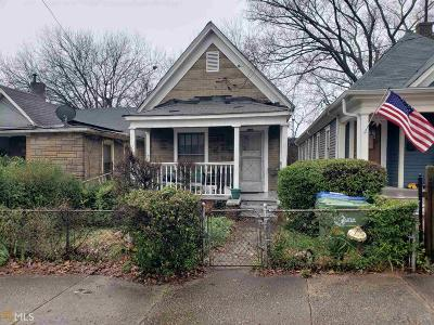 Old Fourth Ward Single Family Home For Sale: 142 Howell St