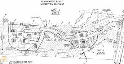 Marietta Residential Lots & Land New: 4830 Wigley Rd