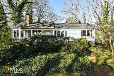 Brookhaven Single Family Home Under Contract: 1857 N Druid Hills Rd