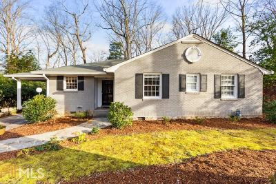 Druid Hills Single Family Home Under Contract: 1722 Dyson Dr