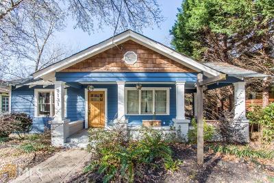 Atlanta Single Family Home New: 1131 Woodland Ave