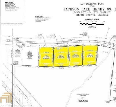 McDonough Residential Lots & Land For Sale: Jackson Lake Rd #Lot 1