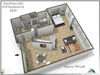 Atlanta Condo/Townhouse New: 878 Peachtree Street #820