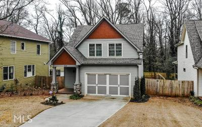 Atlanta Single Family Home New: 1329 Sargent Ave