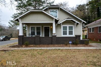 Atlanta Single Family Home New: 1007 Cascade Road SW