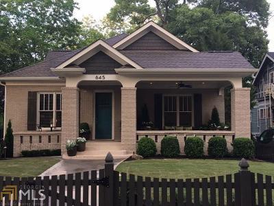 Atlanta Single Family Home New: 645 Seminole Ave
