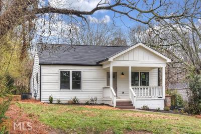 Atlanta Single Family Home New: 1596 Terry Mill Road SE