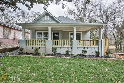 Atlanta Single Family Home New: 1579 Elixir Avenue SW