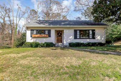 Newnan Single Family Home Contingent With Kickout: 5 Atkinson St