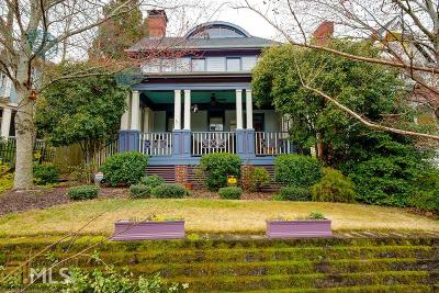 Inman Park Single Family Home Under Contract: 68 Druid Cir