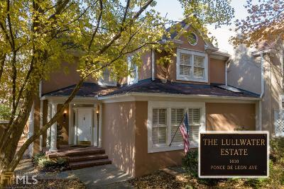 Atlanta Condo/Townhouse Under Contract: 10 Lullwater Estate