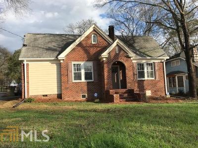 Elberton GA Single Family Home For Sale: $94,900