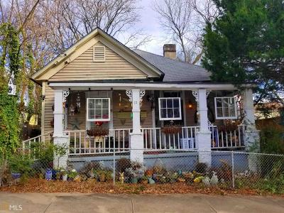 Reynoldstown Single Family Home For Sale: 72 Chester