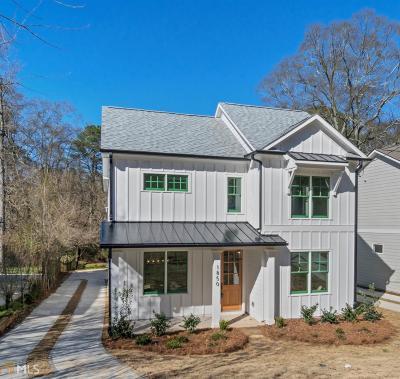 Atlanta Single Family Home New: 1850 Braeburn Cir