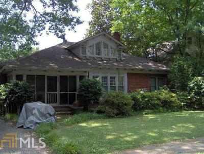 Fulton County Multi Family Home Under Contract: 1566 N Morningside Dr