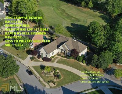 Dacula Single Family Home For Sale: 3305 Fairway Bend Dr